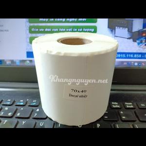 Decal nhiệt 70x40  giấy in tem nhãn