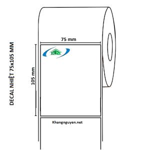 Cuộn 30m Giấy in tem nhiệt 75x105 mm