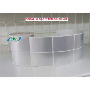 Decal xi bạc 2 tem 50x70 mm
