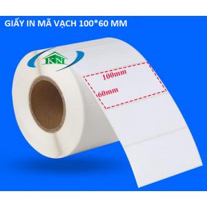 Giấy in tem nhãn mã vạch 100x60 mm