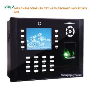 Máy Chấm Công Vân Tay Và Thẻ Ronald Jack Iclock 660