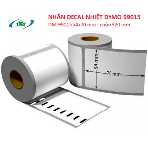 Nhãn decal nhiệt Dymo 99015 cỡ tem 54x70 mm