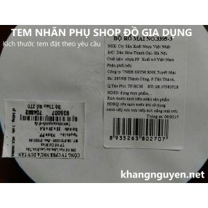 Dịch vụ in ấn tem nhãn phụ hàng hóa ở Hà Nội