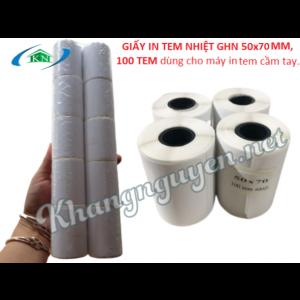 Cuộn 100 tem giấy in tem nhiệt 50x70 mm