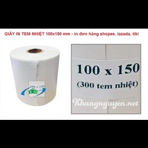 Decal tem in nhiệt in mã vận đơn Shopee 100x150