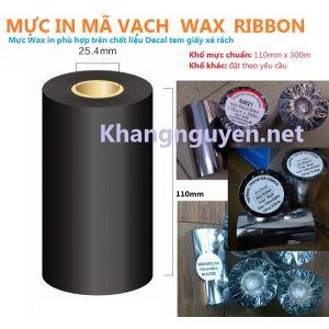 Wax 110mm x 300m ruy băng mực in mã vạch