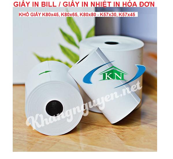 Giấy in nhiệt giấy in bill k80 k57 giá tốt Hà Nội