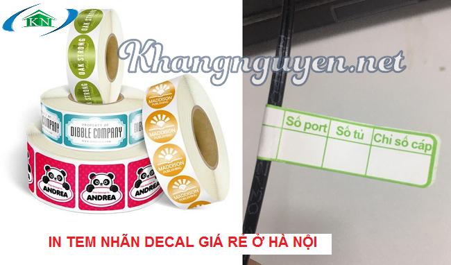 In Tem decal giá rẻ ở Hà Nội