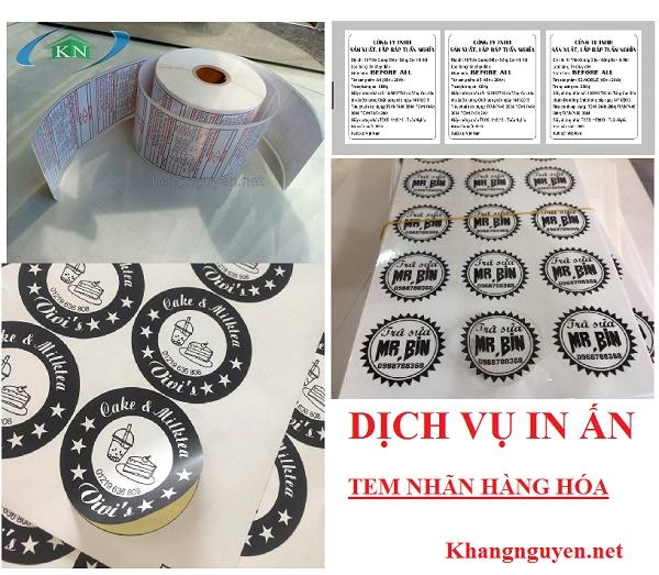 Báo giá in ấn Tem nhãn phụ hàng hóa các loại