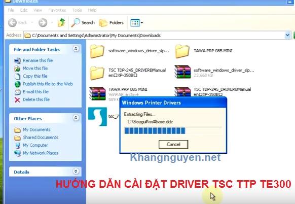 Hướng dẫn cài đặt driver máy in mã vạch TSC TTP TE 300