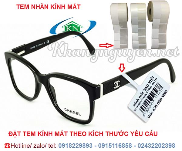 Đặt mua giấy in tem kính mắt ở Hà Nội