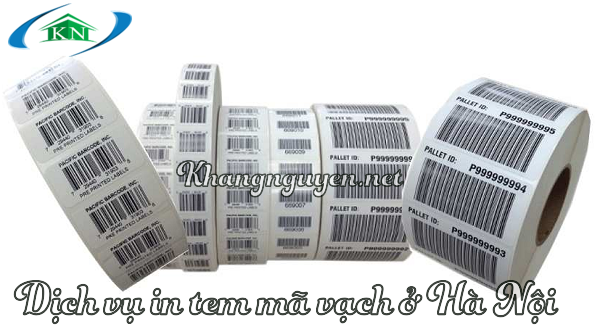 Dịch vụ in tem mã vạch barcode ở Hà Nội