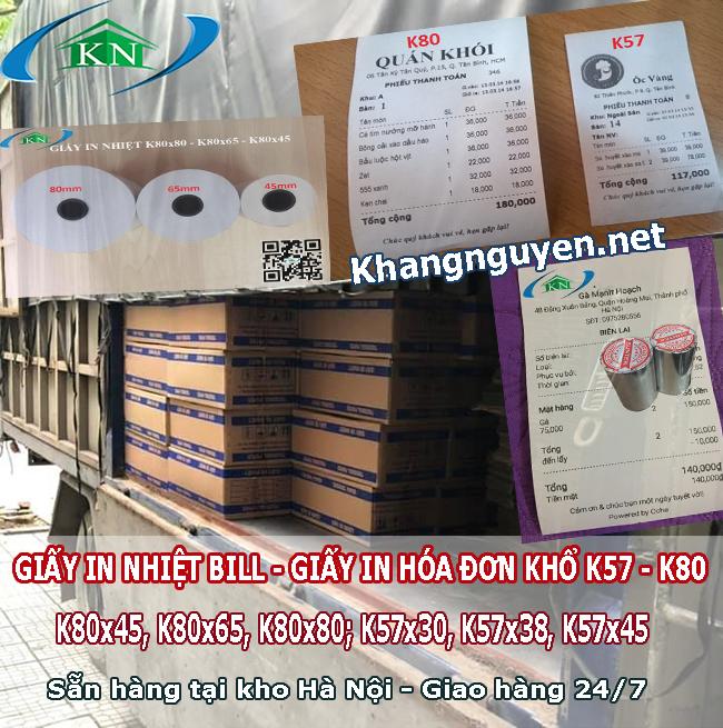 Phân phối Giấy in nhiệt hóa đơn K57 K80 ở Hà Nội