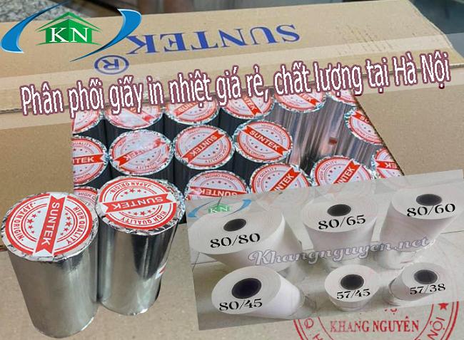 Phân phối giấy in nhiệt chất lượng giá rẻ ở Hà Nội