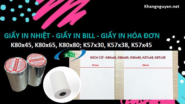 Báo giá giấy in nhiệt K80 K57 tại Hà Nội
