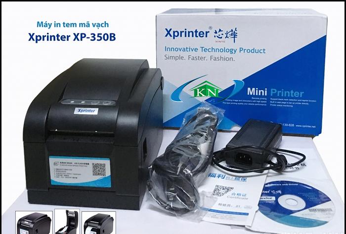 Lắp giấy in bill và  in feed máy in mã vạch Xprinter XP350B