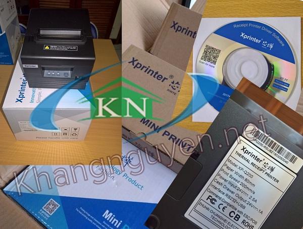 Review máy in tem vận chuyển và in tem trà sữa Xprinter Xp350b