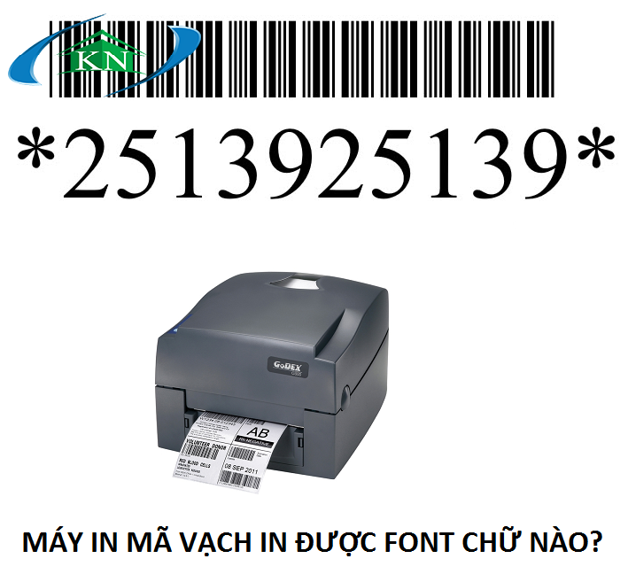 Máy in mã vạch in được font chữ nào