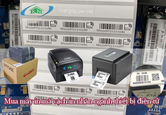 Mua máy in mã vạch in nhãn ngành thiết bị điện tử