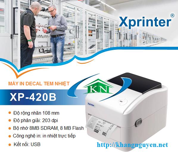 Review Xprinter XP 420B máy in tem nhiệt dạng cuộn 50m