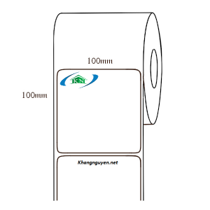 Cuộn 50m Giấy in tem nhiệt 100x100 mm