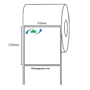 Giấy in tem nhiệt 80x100 mm