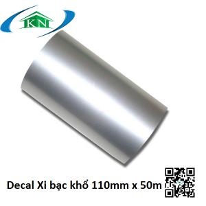 Giấy in nhãn Decal xi bạc 110mm x 50m