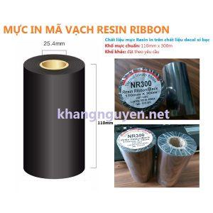Resin ribbon 110mm x 300m ruy băng mực in mã vạch