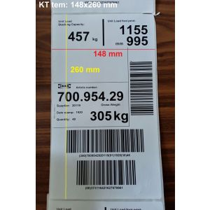 Giấy In Tem Nhãn Mã Vạch Ikea 148x260 Mm