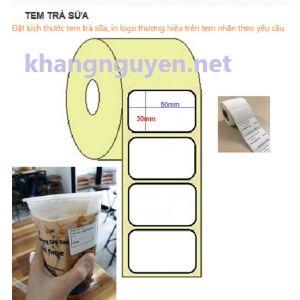 Decal nhiệt in tem dán cốc trà sữa 50x30