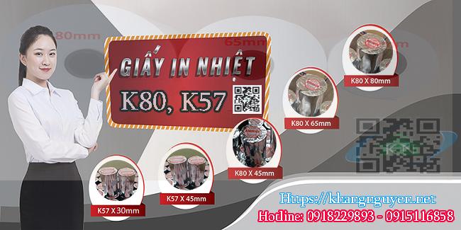 Giấy in hóa đơn bán lẻ K80, K57 giá tốt