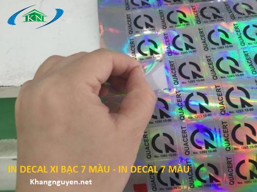 In decal xi bạc 7 màu ở Hà Nội