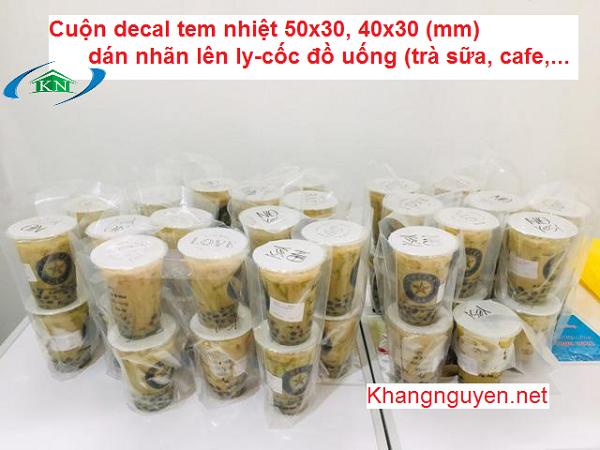 Nơi mua giấy in tem trà chanh tem trà sữa ở Hoàng Mai Hà Nội
