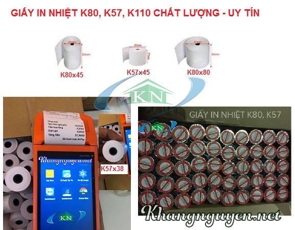 Cung cấp Giấy in nhiệt k80, k57 giá rẻ tại Hà Nội