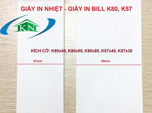 Giá giấy in nhiệt giấy in bill k80 k57