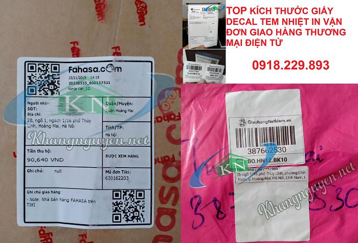 Top cuộn decal nhiệt in vận đơn giao hàng hiện nay